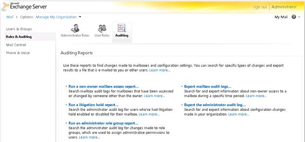 Admin Audit Log