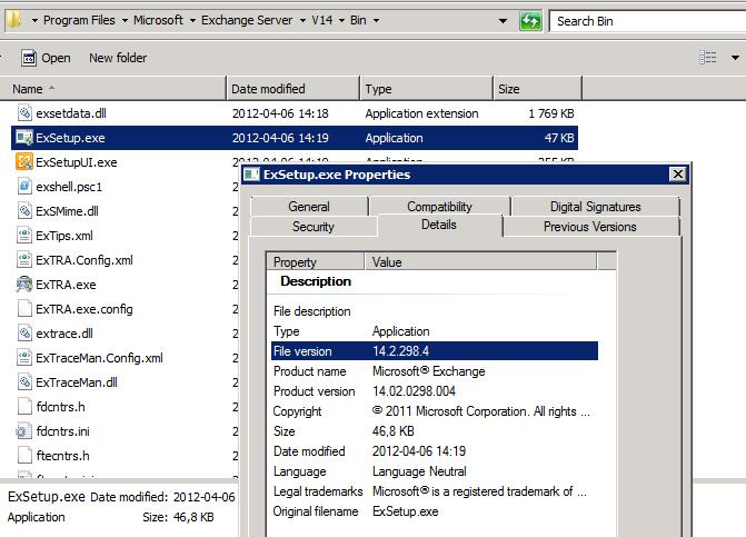 ExSetup File Info
